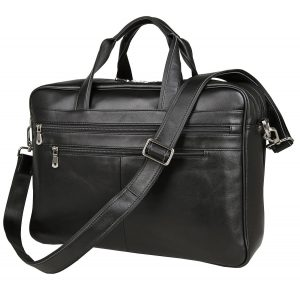 Berchirly 17-inch Leather Laptop Bag and Lawyer Briefcase