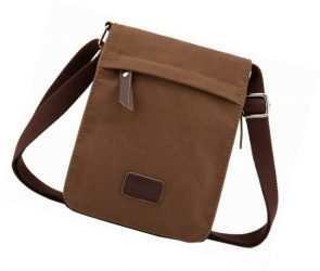 Berchirly Canvas Leather Messenger Cross Body Bag