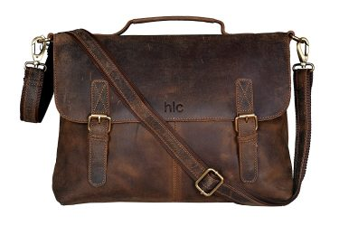 Handolederco Buffalo Leather Laptop Messenger Satchel Bag