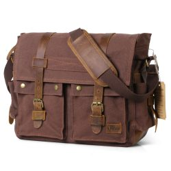 Lifewit 17.3 Men's Shoulder Laptop Messenger Bag Vintage Military