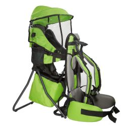 Baby Back Pack Cross Country Carrier Stand Child Kid Sun Shade Visor