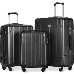 Merax 3 Piece P.E.T Luggage Set Eco-friendly Spinner Suitcase
