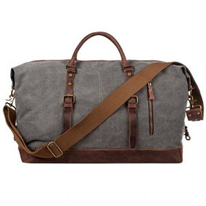 S-ZONE Oversized Canvas Travel Tote Duff Weekender Bag